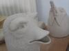 fabelhafte Köpfe I Keramik, ungebrannt