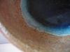 Keramikschüssel m. bl. Glas