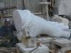 Fußarbeit I Carrara Marmor